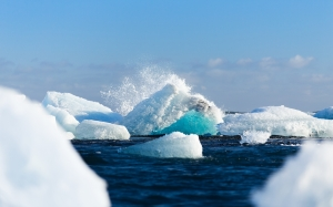 vatnajokull, iceland, nature, icebergs, ocean, sea, water, snow
