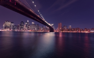 cityscape, city, night, evening, lights, bridge