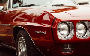 red car, oldtimer, sports car, classic car, race car, firebird, vehicle