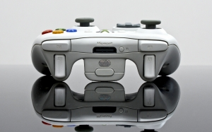 xbox, video games, entertainment, gamepads, white, reflection, joystick