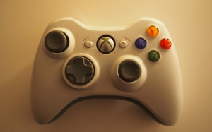 xbox, video games, entertainment, gamepads, white, joystick