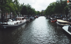 canal, amsterdam, river, city, boats