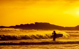 mexico, surf, sea, ocean, sunset, waves, beach