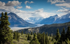 canada, mountains, valley, river, nature, landscape