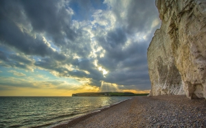 seven sisters, reefs, ocean, england, great britain, shore, clifs