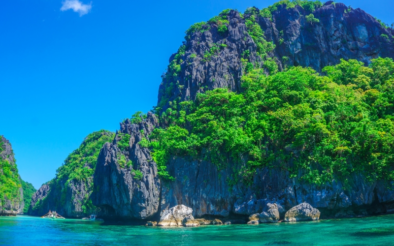sea, ocean, island, rock, cliff, turquoise, paradise, vacation, nature, summer, travel, resort