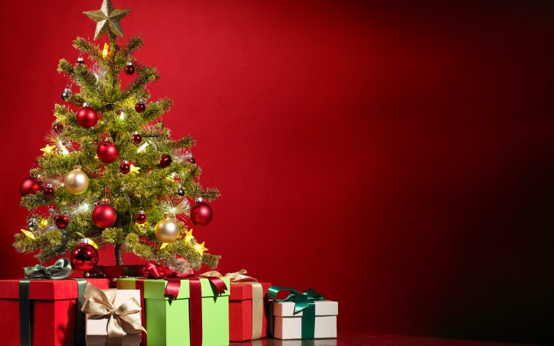 christmas, christmas tree, decoration, gifts, xmas, background, presents