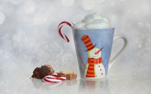 christmas, cup, bokeh, pastries, coffee, confectionery, xmas, candy