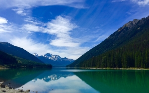 mountains, river, sky, blue, water, reflection, landscape, nature, valley, stunning
