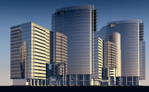 skyscrapers, building, architecture, city, towers, 3d model, computer graphics, 3d visualization, rendering