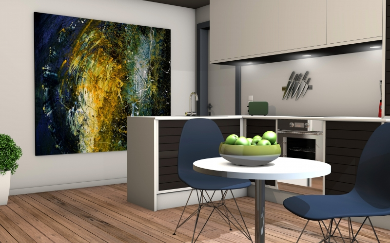 kitchen, living room, apartment, computer graphics, rendering, architecture, 3d visualization, real estate, 3d model, 3d design, virtual, interior