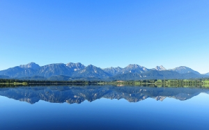 mountains, mirroring, lake, landscape, water surface, reflection, blue, nature, blue sky
