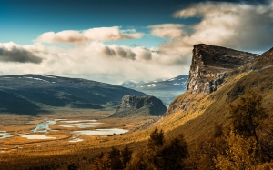 clouds, mountains, cliff, wilderness, jokkmokk, sweden, sarek national park, nature, valley