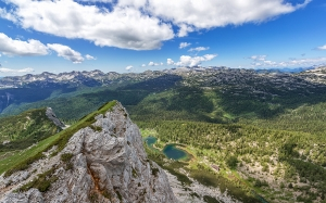 triglav national park, slovenia, mountains, rock, clouds, sky, forest, landscape, nature, wildlife