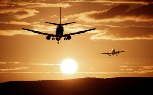 aircraft, landing, sky, passenger aircraft, flight, airport, fly, sunset