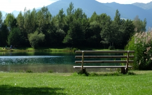 nature, landscape, mountains, prato, water, hiking, spring, picnic, lake, river, bench
