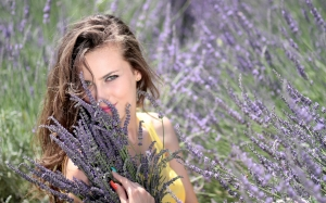 girl, beautiful, person, woman, people, flowers, nature, face