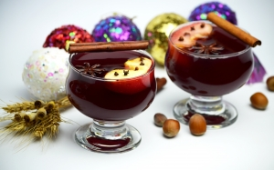 mulled wine, apples, drink, christmas, food