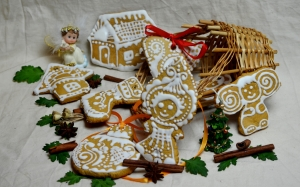 new year, gingerbread, christmas, cookies, dessert