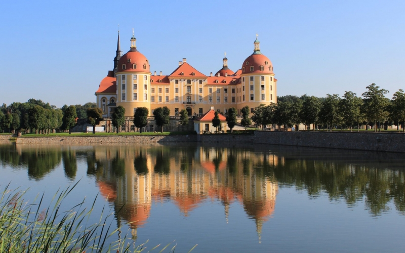 moritzburg, castle, germany, architecture, lake
