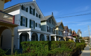 cape may, new jersey, street, houses, town, city
