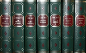 books, leather covers, old, literature, antiquariat, library, bookshelf, bookcase, study, karl may, novels