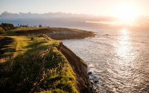 maui, hawaii, water, ocean, coast, sea, cliffs, landscape, nature, clouds, sun