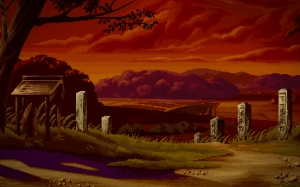 pixel art, sunset, nature, landscape