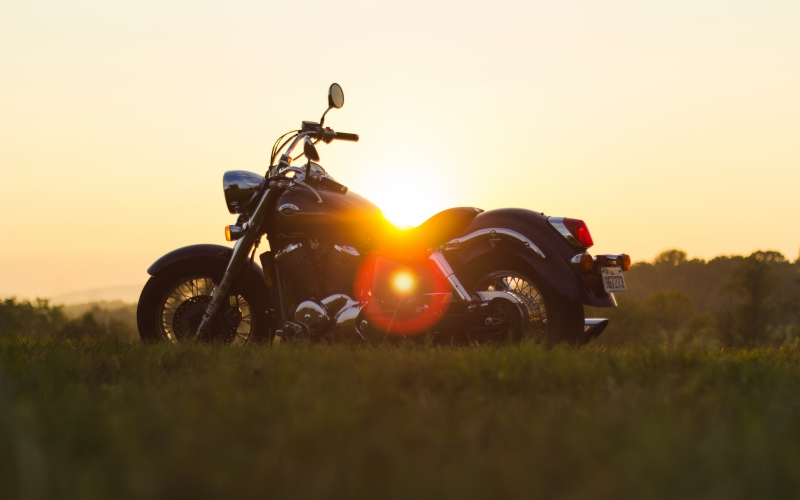 motorbike, motorcycle, bike, roadtrip, sunset, trip, nature