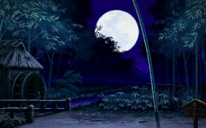 pixel art, night, japan, asian