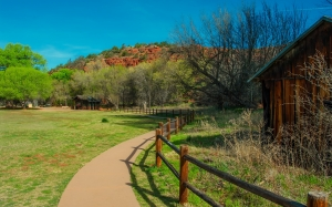 arizona, picnic area, walkway, national park, landscape, nature, outdoors, mountains, trees, woods, hut, shack