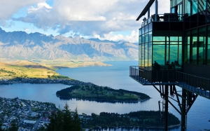 high, new zealand, lake, mountain, landscape, nature, view, building