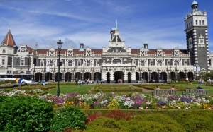 dunedin, new zealand, railroad, station, landmark, architecture, building, railway, architecture