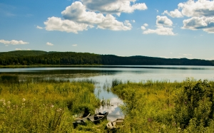 lake, arakul, nature, forest, boat, vacation, russia, chelyabinsk oblast, summer, tourism, landscape, sky, travel, water, clouds