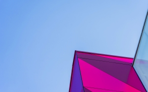 abstract, architectural, blue sky, building, design, geometric, urban