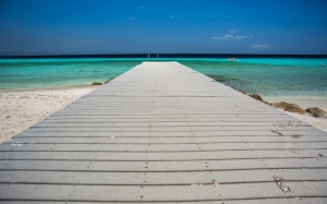 resort, pier, tropical, beach, summer, ocean, vacation, exotic, relax, sand, caribbean, water, sea, paradise, sky, blue