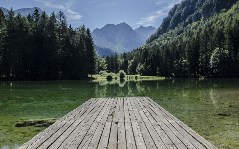 forest, clouds, country, dock, forest, highlands, lake, landscape, mountains, nature, outdoor, reflection, scenic, trees, woods