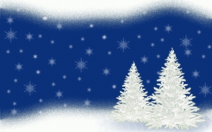 christmas tree, christmas, fir, christmas time, xmas, greeting card, snowflakes, stars, background, holidays, winter, snow