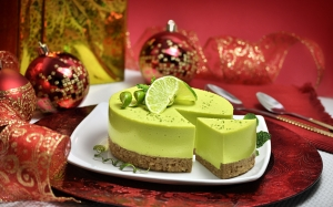 christmas, xmas, foot lemon, lemon, red, decoration, dish, christmas balls, food, dessert, sweet, citrus, lime