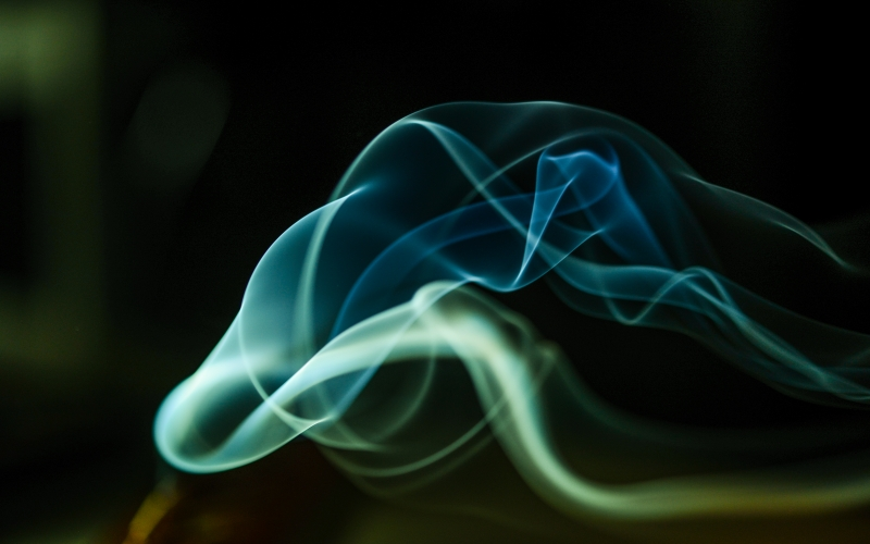 smoke, lights, curly, dark, abstract, background