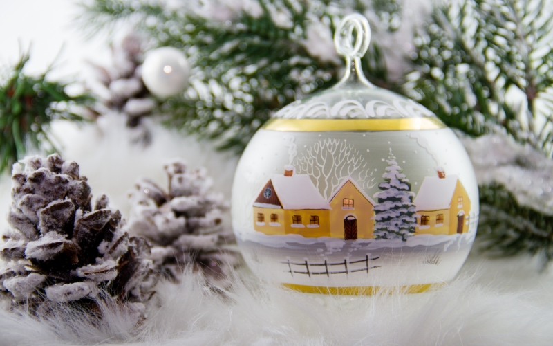 christmas glass ball advent christmas ball painted winter christmas ornaments - Glass Christmas Tree Decorations