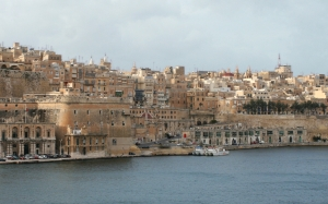 malta, valletta, senglea, panorama, south coast, sea, port