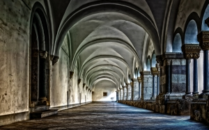 monastery, cloister, abbey, architecture, vault, religion, church, historically, building, brauweiler, stone, columnar, history, floor, old, art