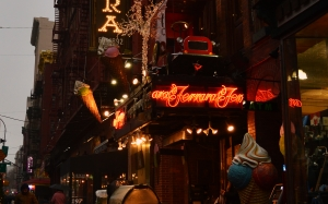 rainy, cloudy, city, font, icecream, lights, neon, new york, nyc, store, street, buildings, evening