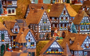 houses, homes, christmas motif, buildings, miniature, porcelain, advent, christmas time, winter, christmas, holidays, xmas, christmas decoration