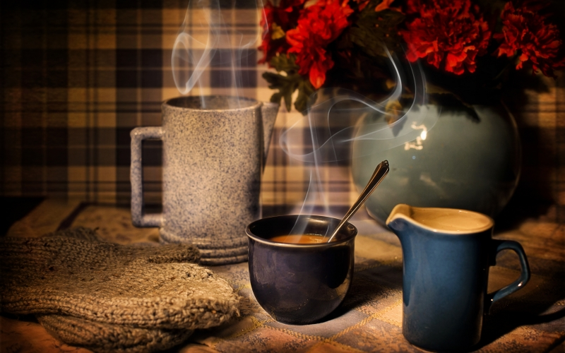 table, coffee, winter, warmth, cozy, cup, drink, hot, warm, mug, home, fume, steam