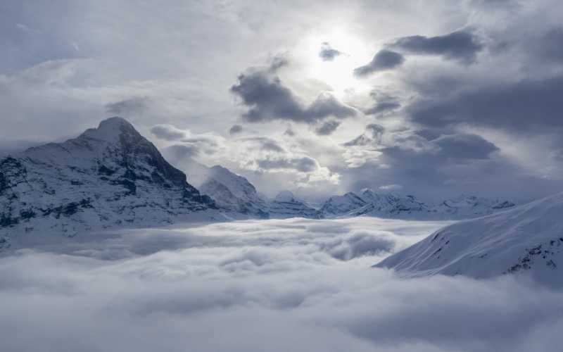 winter, grindelwald, switzerland, mountains, alpine, bernese oberland, nature, clouds, sky, cloudscape, selva marine