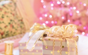 christmas, xmas, new year, pink, presents, christmas tree, bedroom, decorations, home, cosy, wrapping gifts