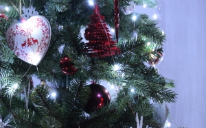 christmas, xmas, new year, fir, decoration, winter, lights, holidays, background, christmas ornaments, christmas tree, balls