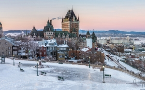 quebec, city, canada, castle, hotel, architecture